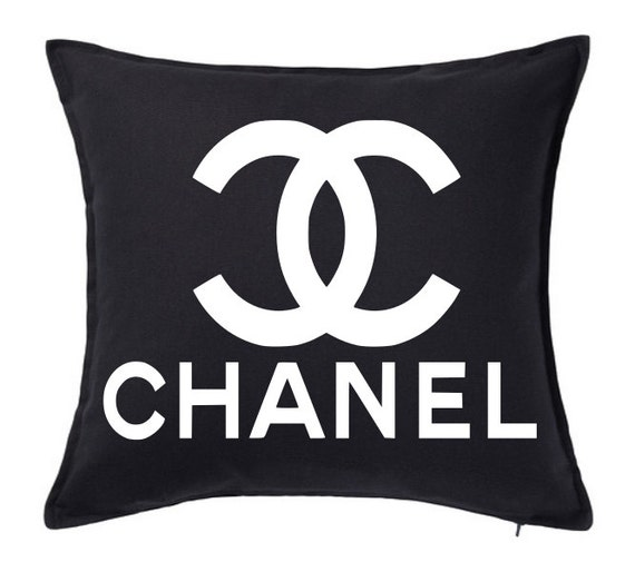 Black Chanel Throw Pillow : Chanel Inspired Pillow Cover College Dorm by LuxePillowPalace