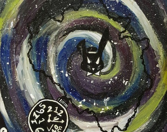 White Rabbit - acrylic painting - alice in Wonderland art