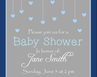 Baby Shower Invitation- cloud