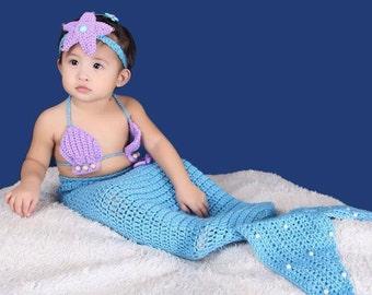 Crochet Mermaid Baby Costume