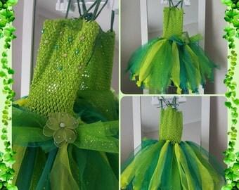 Princess tinkerbell 4 layer tutu dress