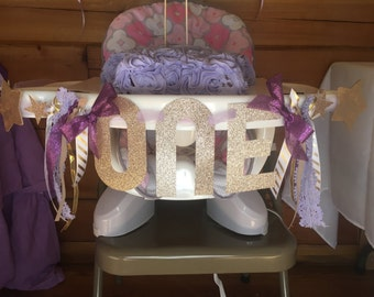 First Birthday High Chair ribbon Banner