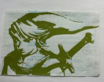 Zelda Decal, Link, Nintendo Sticker, The Legend of Zelda Decor, Hyrule