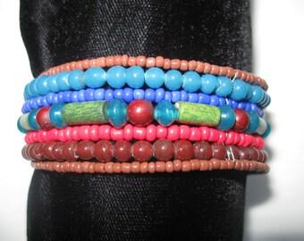 Beaded Cuff Bracelet B003