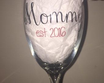 Customizable New Parent, Grandparent, Aunt, Uncle, or Godparent Glass