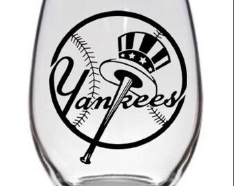 New York Yankees Logo Glass