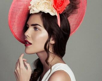 Flowered coral headband