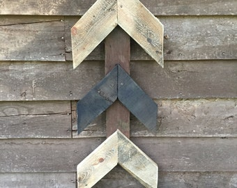 Chevron Reclaimed Wood Art