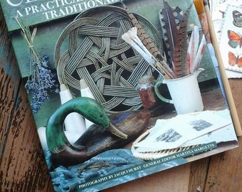 Classic crafts book~traditional crafts book~basketry~cider making~wood engraving~patchwork~candle making~block printing book~rag rug making