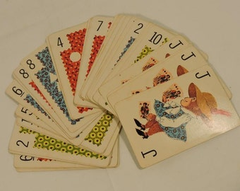 Children's Playing Cards Vintage