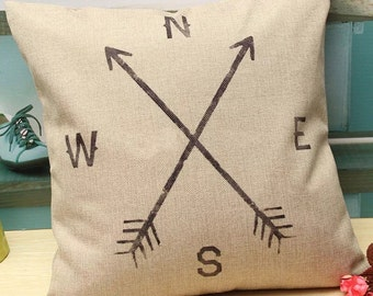 High Quality North South East West Cushion Cover UK SELLER