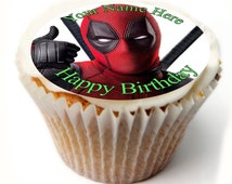 Unique deadpool cake topper related items | Etsy