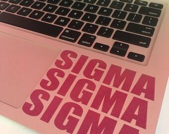Sigma Sigma Sigma Block Decal