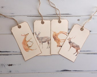 Shipping Tags, Gift tags, tags, reindeer