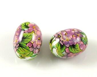 Japanise TENSHA beads oval egg 12*16 mm pair/5 pcs/10 pcs
