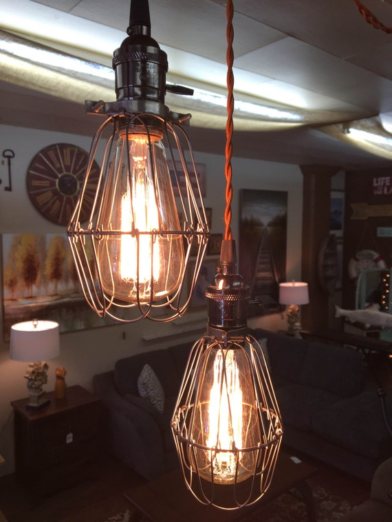 Rustic barn pulley pendant light by thehaydendepot on etsy for Rustic barn light fixtures