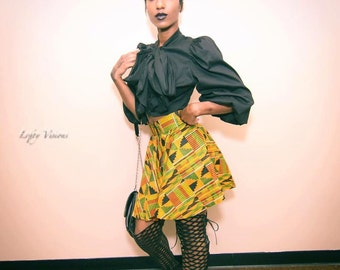 African Print Circle Skirt