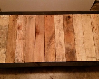 Chic Reclaimed Wood Coffee Table