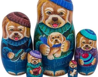 Russian Matryoshka dog and puppy