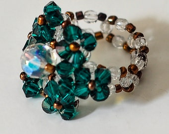 Ring of Crystal beads