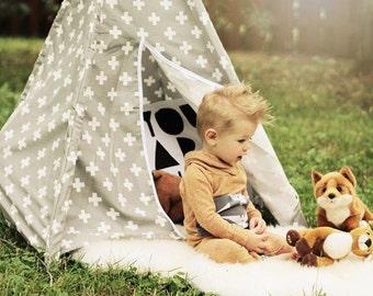 Toddler teepee nook, teepee nook, kids fort, modern teepee, modern tipi, kids teepee, reading nook, play tent, teepee tent, nook