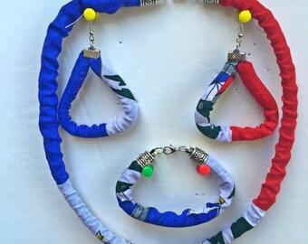 Haitian jewelry set