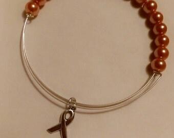 Multiple Sclerosis Adjustable charm Awareness Bracelet