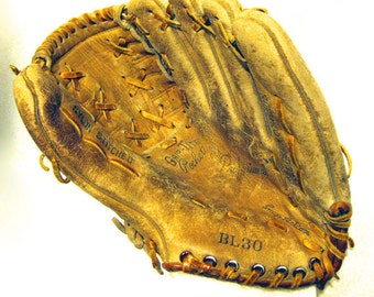 Vintage Leather Baseball Mitt