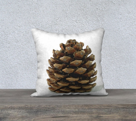 Rustic Pillow Cover Pinecone Nature Throw Pillow Decorative