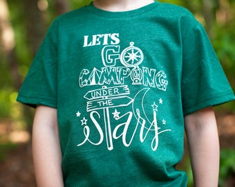 Kids tee - trendy clothes - Girl clothing - Boy Clothing - Trendy baby clothes - Camping - Kids Camping Tee - Let's go camping