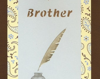 A Note for a Brother handcrafted greeting card
