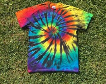 Rainbow spider swirl tshirt