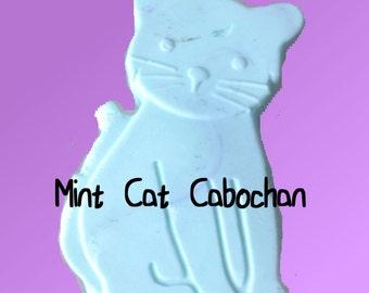Mint Cat Cabochan