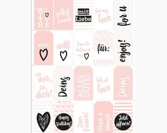 Printable / Gift Tags / Pink