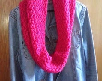 Knitted Pink Cowl