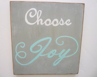 Choose Joy, Distressed Wood Sign, Rustic Wood Sign, Farmhouse Decor, Shabby Chic, French Country, Cottage Chic