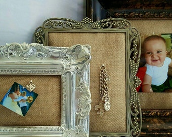 Burlap Pin Cushion Picture Frame(s)