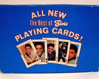 CLEARANCE 50% OFF Vintage 1988 The Best of  Elvis Playing Cards Deck