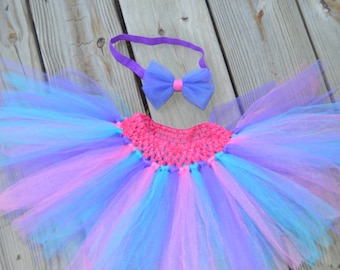 Purple, Pink, and Blue Baby/Toddler Tutu