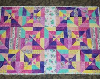 Handmade Bright Cheerful Baby Quilt