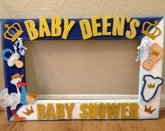 "Custom Photo Frame - Baby Shower Decorations - PhotoBooth. Party frame 25 ""x 20"""