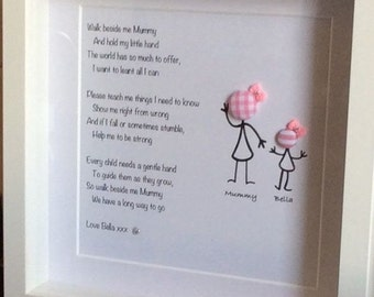 Mother & Daughter frame Mother's Day birthday present gift