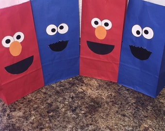 Elmo/Cookie Monster treat bags