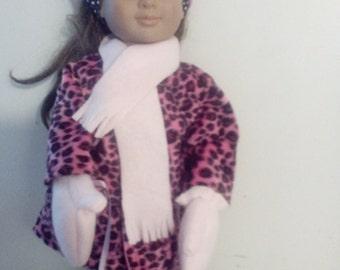 """18"""" Doll  Pink Fur Coat Set"""