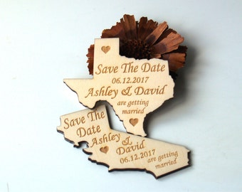 Save the date, Save the date rustic, States save the date, Save the date magnet, Wood save the date, Save the date magnet rustic, States