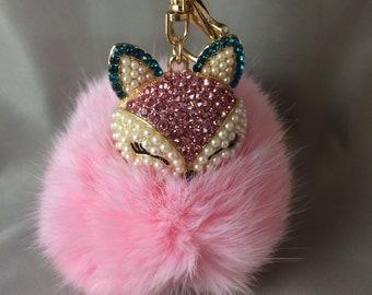 Fox key chain or planner/purse charm