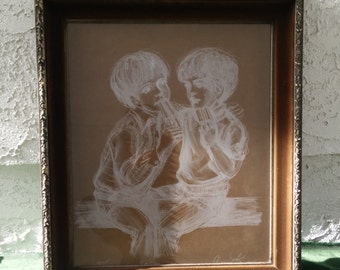 Connie King Signed Lithograph/Children's Art/ Limited Edition