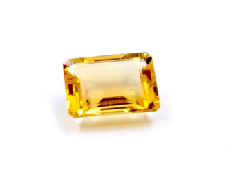 Dignity 6 Ct & Up Citrine Emerald Cut Loose Stone