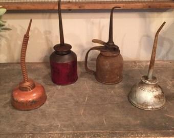 Vintage oil spouts
