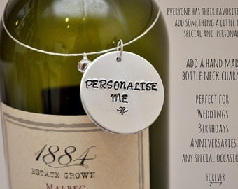 Personalised Bottle Neck Charms
